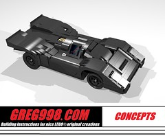 Black 917 Short Tail concept by Greg998 (greg_998) Tags: 917 lego car black