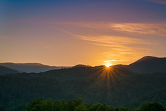 Tennessee Sunset (John Brighenti) Tags: outsiide outdoors nature rural mountains blueridge evening night sony alpha a7rii ilce7rm2 sonyshooter bealpha tamron 2875mm tannessee tn highway interstate hills green sunset dusk sky clouds cherokeenationalforest wilderness wild remote tamron2875