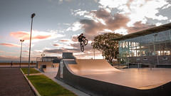 Jump to the sunset (aleflorea.photography) Tags: red madeira funchal holiday island portugal sunset sea road shore ocean sun sport xtreme extreme trick tricks bike jump park man men