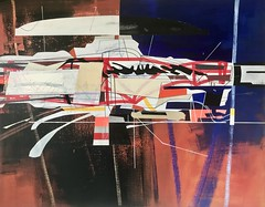 Jim Harris: Overlord II. (Jim Harris: Artist.) Tags: art arte painting lartabstrait maalaus space cosmos