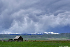 Incoming Storm - Color Version (walkerross42) Tags: clouds storm mammatus barn mountain shermanpeak montpelier bearlakevalley idaho spring