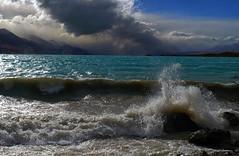 Storm over Lake Pukaki (Maureen Pierre) Tags: npsnz storm cloud lakepukaki waves rain late xt2 fujifilm light colour landscape newzealand