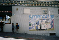Mural. (bingley0522) Tags: olympusxa kodakcolorplus200 sanfrancisco claystreet nobhill mural ordinarythings commonplacethings autaut urbanlandscape