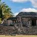 Temple of the stelae, Mayan site at Kohunlich - Quintana Roo, Mexico