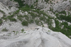 Looking down Runnels (slack---line) Tags: paklenica s95 canon stup croatia holiday may 2019 domzalski 6a