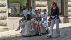 Children in Old Town in Stockholm, Sweden 22/5 2019. (photoola) Tags: stockholm street barn gamlastan oldtown children sweden photoola boy västerlånggatan