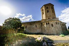 St. Pere de Ponts (Joan Romero) Tags: sonyflickraward sonya77ii ngc catalunyaromanica romanesque sky stone goldenhour sun flare tree church