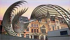 Grote Markt, Kortrijk (Courtrai) Flandre Occidentale, Belgium (claude lina) Tags: claudelina belgium belgique belgië kortrijk courtrai flandreoccidentale vlanderen ville town architecture