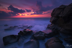 tidal sea rocks (Kuanying Fu) Tags: red landscapes seascape morning dawn broken low longexposure cape pacific taiwan outdoor wide may summer 2019