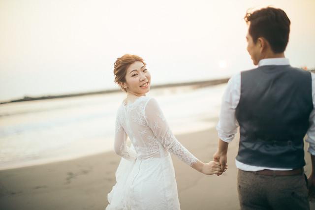 簡單卻不平凡的美式海灘婚紗|Hermosa Wedding