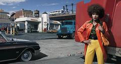 Margaret Forman. (blaisearnold.net) Tags: shell loc usa us nyc newyork 70s disco mack truck bmw ford greyhound bus fashion victim