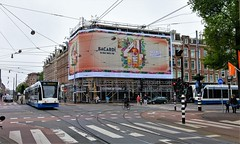 Aan de drank (Peter ( phonepics only) Eijkman) Tags: amsterdam city combino gvb tram transport trams tramtracks trolley rail rails streetcars strassenbahn nederland netherlands nederlandse noordholland holland