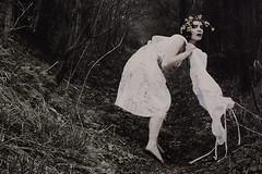 (Nynewe) Tags: nynewe self selfportrait fairy tale fae michaela knizova white dress forest mysterious red lips slovak nyneve poetic tisovec path sentimental melancholia girl female feminine