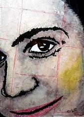 Lara (franck.sastre) Tags: ellas art painting retrato mirada dulzura mixedtechnique colors
