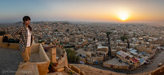 Sunrise over Golden City, Jaisalmer Fort, Rajasthan (Catherine Gidzinska and Simon Gidzinski) Tags: 2018 india jaisalmer jaisalmerfort november rajasthan sunrise fort gidzinska gidzinski grainconnoisseur panoramic panorama portrait woman