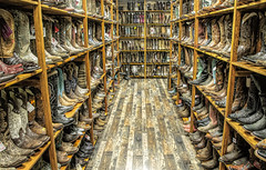 Cowboy-up..... (Kevin Povenz Thanks for all the views and comments) Tags: 2019 may kevinpovenz gatlinburg tennessee boots shoes cowboyboots retail store inside canon7dmarkii wood floor shelves sale men woman selling color