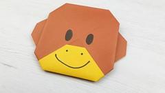 Mono de papel (Origami) (Manualidades Play) Tags: manualidades papel niños mono origami papiroflexia