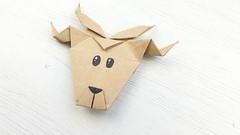 Reno de papel (Origami) (Manualidades Play) Tags: origami papiroflexia reno animales manualidades