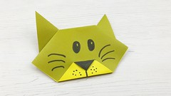 Gato de papel (Origami) (Manualidades Play) Tags: origami manualidades niños papel papiroflexia gato