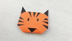 Tigre de papel (Origami) (Manualidades Play) Tags: manualidades tigre papel origami papiroflexia animales