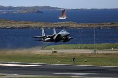 Arctic Eagle (crusader752) Tags: usaf ang usairforce boeing mcdonnelldouglas f15c eagle 860168ma bodøairstation 104thfw massachusetts airnationalguard exercise arcticchallenge2019