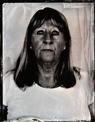 Lizanne (fitzhughfella) Tags: wetplate tintype tinplate collodion silvernitrate ether darkroom largeformat 5x4 graflexspeedgraphic kodakaeroektar