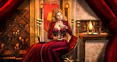 """""""Everyone who isn't us, is an enemy"""" – Cersei Lannister (meriluu17) Tags: cersei cercei lannister lion claws red royal regal queen got warrior she her majestry goddess woman throne people portrait gold wine drink gameofthrones una luas thefinalwinter enchantment"""