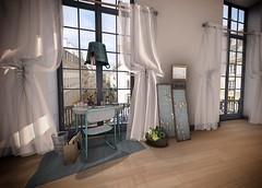 Refuge - Emma Desk for Fameshed 7th Anniversary (chantal1007 Resident) Tags: refuge decoration desk office fameshed deco