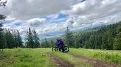 Wallowa-Whitman Forest Weekend (Doug Goodenough) Tags: bicycle bike cycle pedals spokes camping memorial day weekend rpod forest mountains vista views dirt gravel ebike trek powerfly drg531 may spring rain clouds drg53119 drg53119p drg53119pwhitman