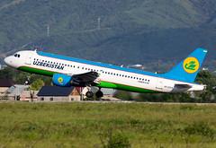 UK-32019 Uzbekistan A320 (twomphotos) Tags: plane spotting ala uaaa rwy05r evening afternoon uzbekistan airlines airbus a320 departure