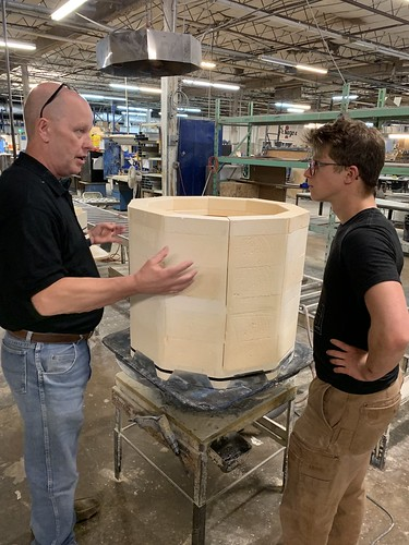 Alec Steele Tours Paragon Kiln Factory