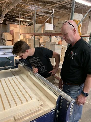 Alec Steele Tours Paragon Kiln Factory