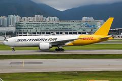 N774SA (PlanePixNase) Tags: hkg vhhh hongkong cheplapkok airport aircraft planespotting boeing southern air cargo dhl 777 b777 777200 777200f