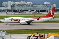 HL8327 (PlanePixNase) Tags: hkg vhhh hongkong cheplapkok airport aircraft planespotting boeing tway 737800 737 b738