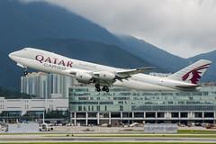 A7-BGA (PlanePixNase) Tags: hkg vhhh hongkong cheplapkok airport aircraft planespotting boeing qatar jumbo 7478f cargo 747