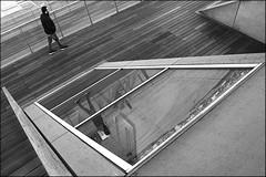 ups and downs (bostankorkulugu) Tags: blackandwhite bw man black reflection window monochrome night germany deutschland blackwhite graphics europe geometry walk hamburg diagonal bostanci altona bostan hansestadt korkut dockland graphism hanseaticcity nordakademie bostankorkulugu nordakademiegraduateschool