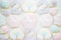 Rainbow Unicorn Cookies (shellynunnally) Tags: unicorn rainbow plaque second birthday
