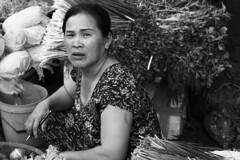 . (Out to Lunch) Tags: market ba chieu saigon ho chi minh city vietnam woman vegetables blackwhite street expression closeup intrusion fuji xt1 xf1256r happyplanet asiafavorites