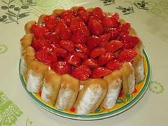 Charlotte aux fraises (Kermitfrog ;-)) Tags: charlotte charlotteauxfraises recette fraises strawberry dessert