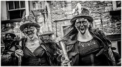 Something to Shout & Scream about (and its not Brexit) (Andy J Newman) Tags: bw bandw beltane blackandwhite border chippfolk d500 festival folk hair lady morris morrisdancing nikon scream silverefex woman younggirl chippenham england unitedkingdom