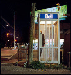 The Meloncholy in the everyday. (Brjann.com) Tags: superior kodak portra 800 kp800 hasselblad 501cm 500cm 503cw 6x6 square nightscape night nightwalker minimalism midnight ominous sombre alone lonely long exposure newtopographic newtopologies new topographic topologies toronto nostalgia analogue analog film 120film 120mm 120 mediumformat medium format aesthetic iso asa