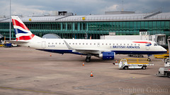 BA Cityflyer Embraer E-190SR G-LCYX (StephenG88) Tags: britishairways ba baw speedbird bacityflyer cj cfe flyer manchesterairport southside man egcc 23l 23r boeing airbus 25thfebruary2019 25219 22519 lineup takeoff t3 terminal3 embraer e190 e190sr 190 195 glcyx