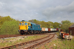 Foxfield Freight (Treflyn) Tags: br british rail brcw class 331 33 crompton 33102 sophie foxfield colliery freight train mineral wagons emrps east midlands railway photographic society photo charter