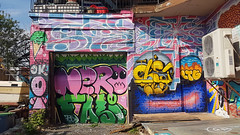 Hochelaga Street Art - Montréal, QC (Coastal Elite) Tags: graffiti montréal hochelaga hochelagamaisonneuve streetart painted home house building wall montreal quebec canada urban street art mur murs walls nero bubble bubbly letters colors colours colourful colorful mural murales murals murale