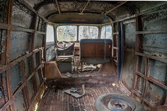 The belly of the beast (Jaco Verheul) Tags: peugeot d4a hdr car interior urbex urbanexploring french nikon d7100 fotofair decay