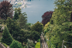 View of Como from Brunate (sarahmu.) Tags: funicular funicolare como lakecomo lake nature landscape lomb lombardy milan trees brunate