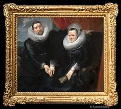 DSC7339 Anthony van Dyck - Retrato de un matrimonio, hacia 1617-18, Museo de Bellas Artes, Budapest, Hungría (Ramón Muñoz - Fotografía) Tags: museo de bellas artes budapest museum fine arts hungría pintura escultura anthony van dyck anton