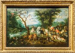DSC7335 Jan Brueghel, el Viejo - Paisaje paradisiaco con animales entrando en el Arca Noé, hacia 1613-15, Museo de Bellas Artes, Budapest, Hungría (Ramón Muñoz - Fotografía) Tags: museo de bellas artes budapest museum fine arts hungría pintura escultura jan brueghel el viejo