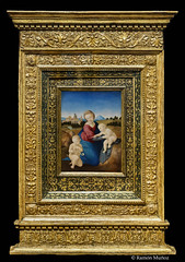 DSC7278 Rafael Sanzio - La Virgen y el Niño con San Juanito (Virgen Esterházy), hacia 1508, Museo de Bellas Artes, Budapest, Hungría (Ramón Muñoz - Fotografía) Tags: museo de bellas artes budapest museum fine arts hungría pintura escultura rafael sanzio