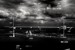 Landing view (albertomazzei1) Tags: a321 a320 a319 airbus flight volo landing cockpit view headup display pilot captain albertomazzei